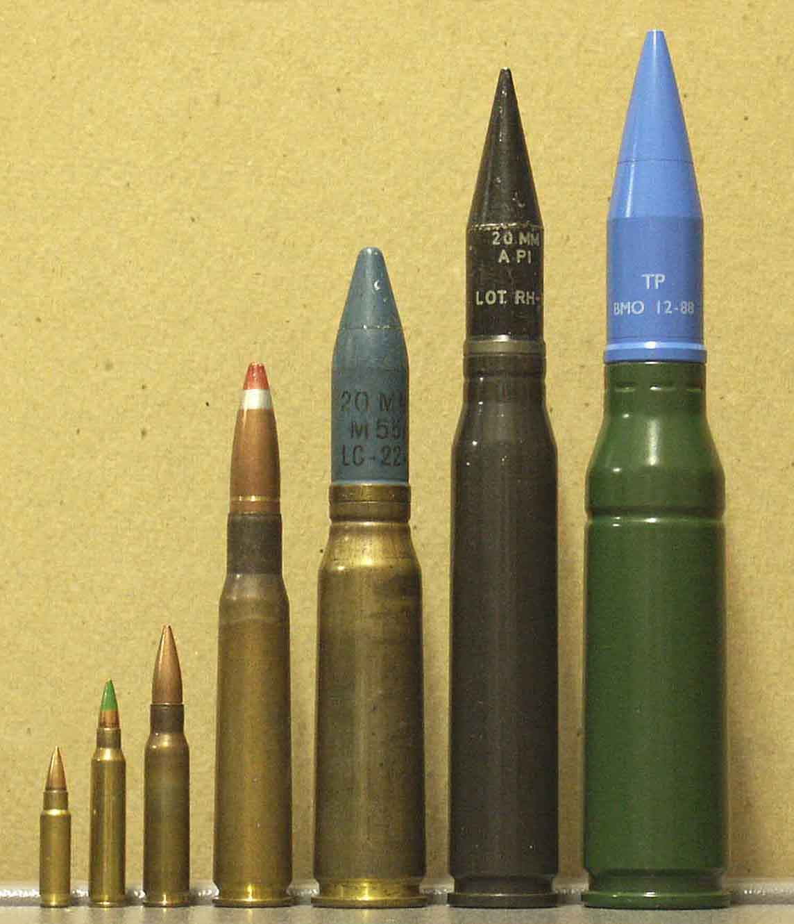 Ammunition for Armor-Testing NATO General and 20mm